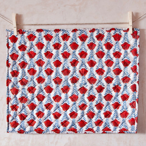 Pair of Handblock Quilted Placemats