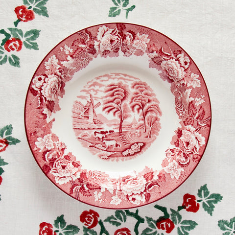 Pair of Vintage English Scenery Dinner Plates