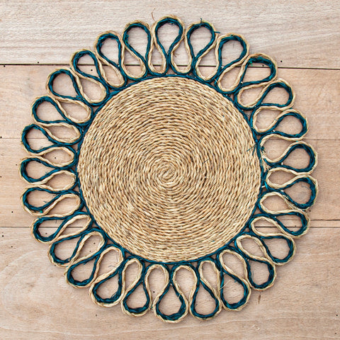 Looped Sisal Placemats (Teal)