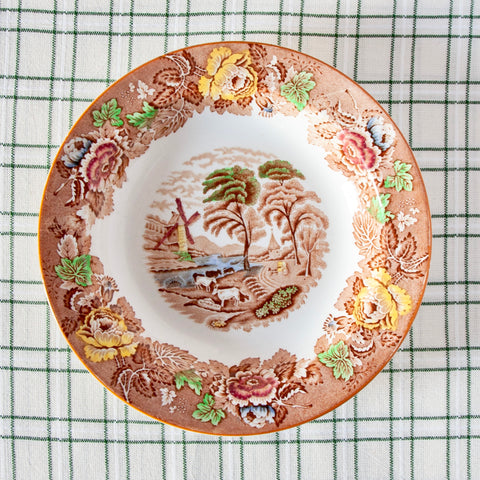 English Scenery Soup Plate