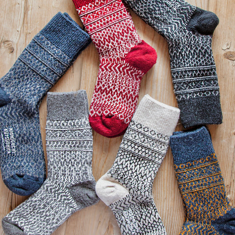 Wool Jacquard Socks