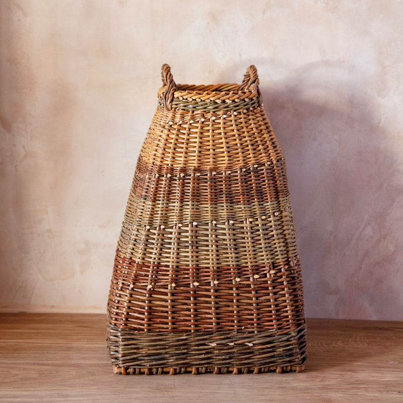 Hand Woven English Willow Umbrella Stand/Laundry Basket