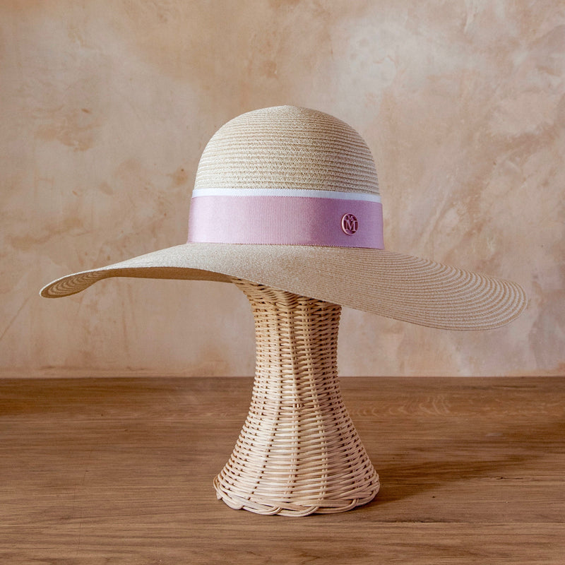 Blanche Hat, Straw (Natural/Pink)
