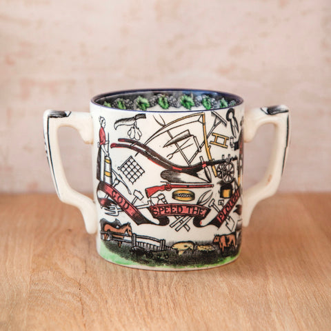 "Vintage ""God Speed The Plough"" Mug"