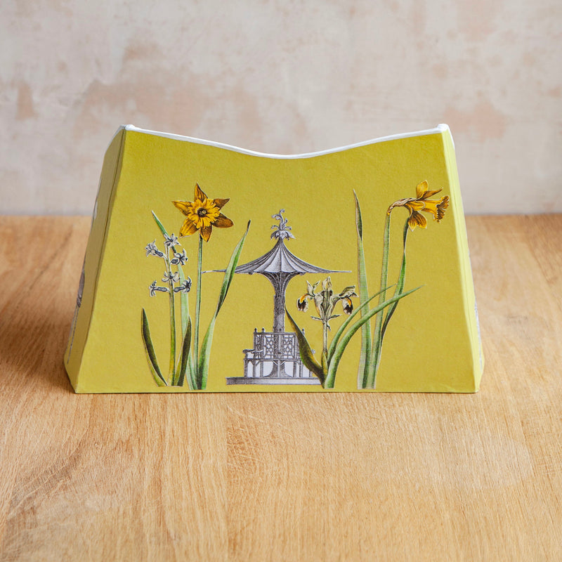 "Baroque Letter Holder, ""Daffodils & Pine"""