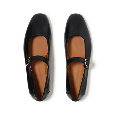 Leather Mary Janes, Black