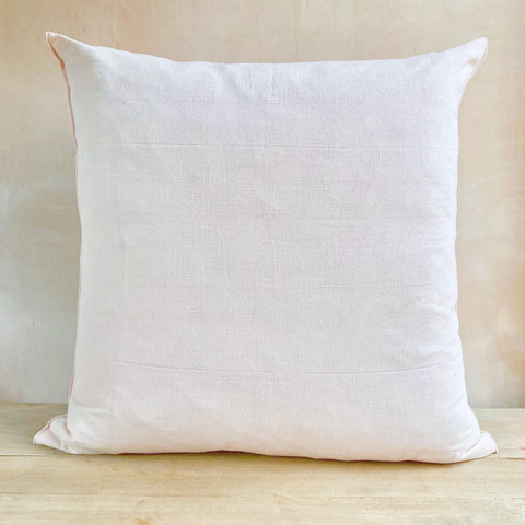 Hand-woven Cotton Cushion Cover, Powder Pink