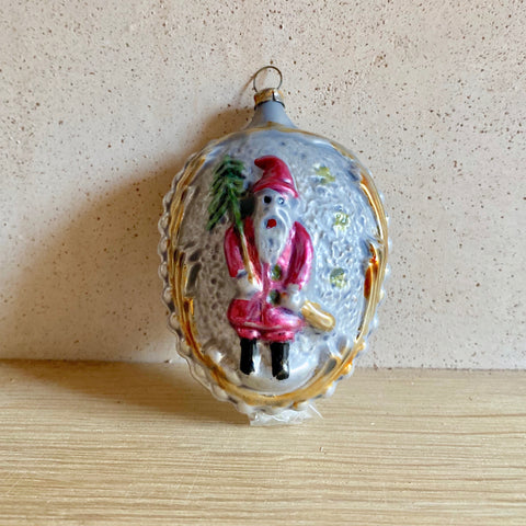 Double Face Santa Ornament