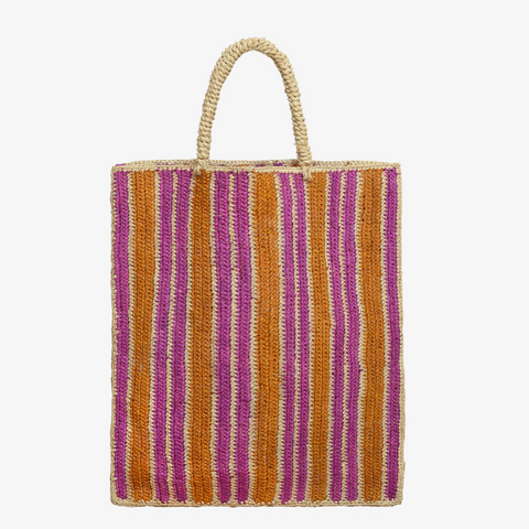 Vendredi Raffia Tote Bag