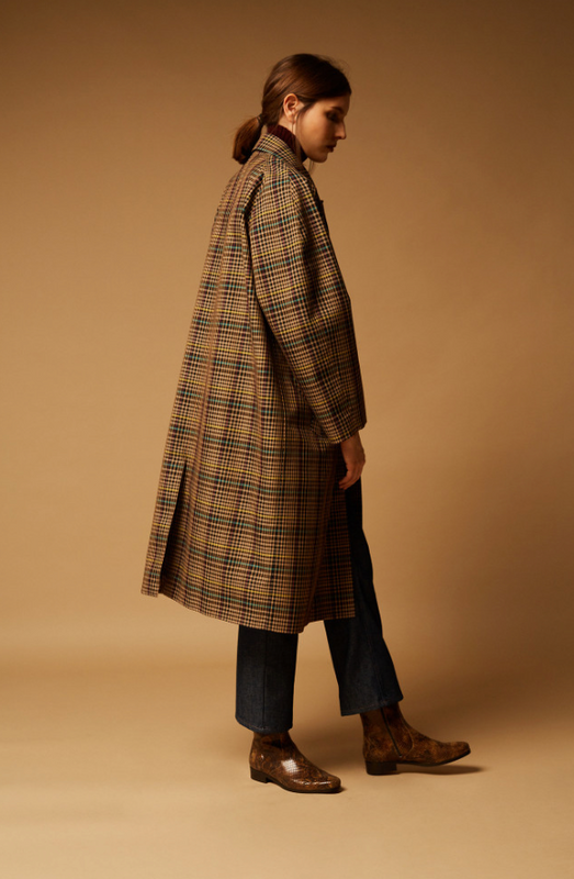Lettonie Checked Coat