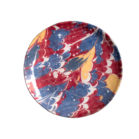 Blue and Red Marble Saucer