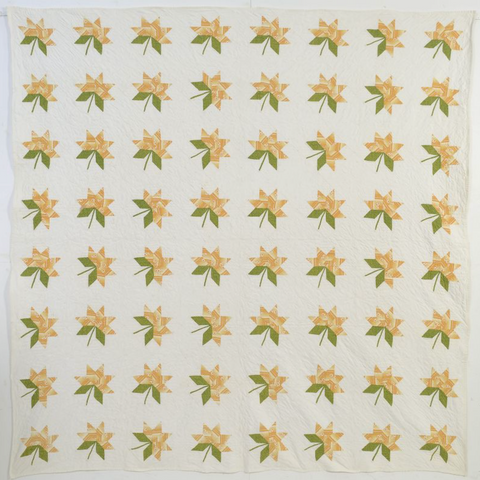 Maple Leaf Quilt, Circa 1860; Pennsylvania
