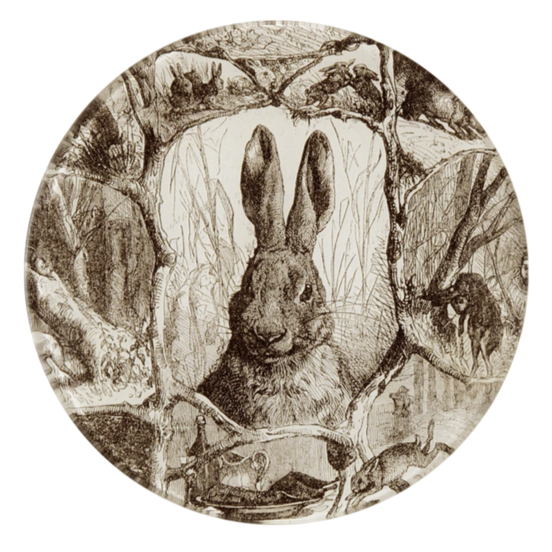 "Sepia Rabbit, 5 3/4"" Plate"