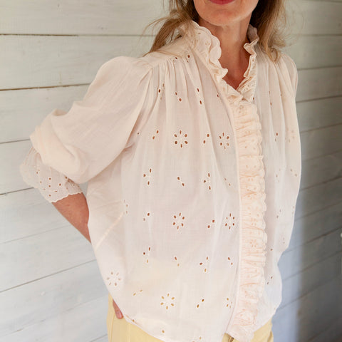 Daisya Cotton Blouse, Rose