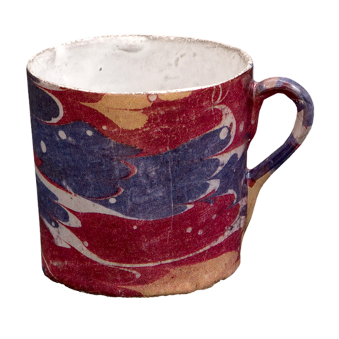 Blue and Red Marble Cup