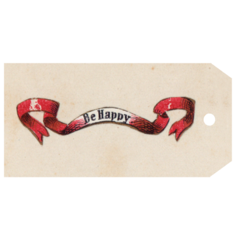 Be Happy Gift Tag, Pack of 5