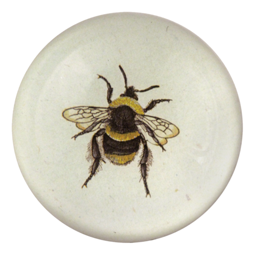 "Striped Bee, 4"" Round Plate"