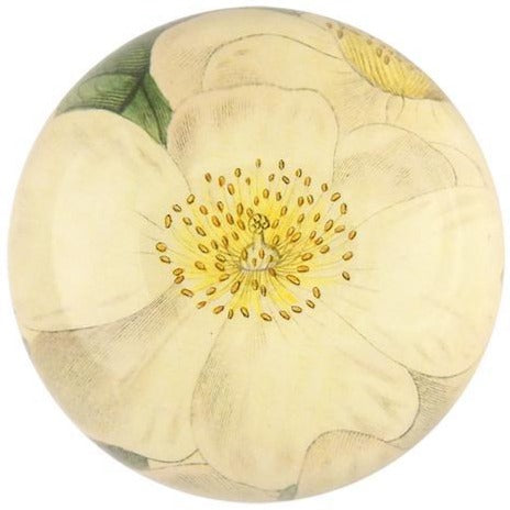 White Lily Dome Paperweight