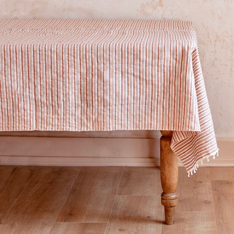 Canyon Stripe Woven Tablecloth