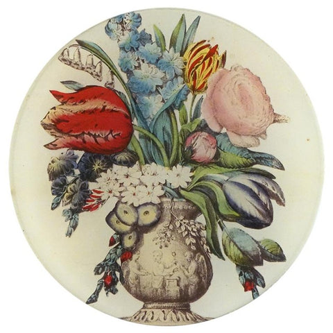 "Arranged Flowers, 5"" Round Plate"