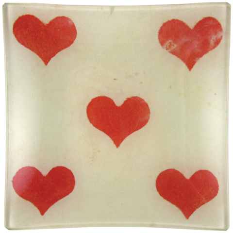 "5 of Hearts Un Vide Poche, 6"" Square Tray"