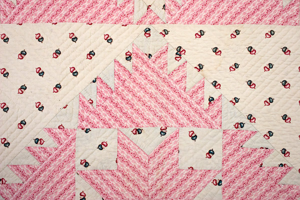 "Pink ""Delectable Mountains,"" Quilt, C.1850"