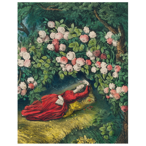 "Sleeping Beauty (p100) Book Page, 11 x14"" Rectangular Tray"