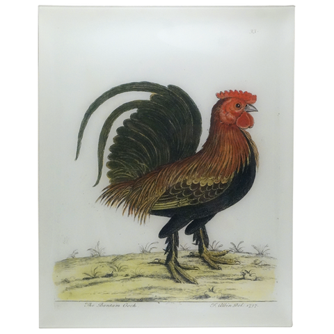 The Bantam Cock, 17x22 Rectangular Tray