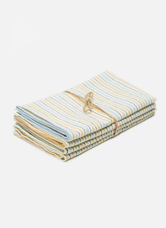 Quinn Stripe Woven Napkin, Set of 4