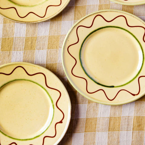 Pair of Handmade Provence Salad Plates