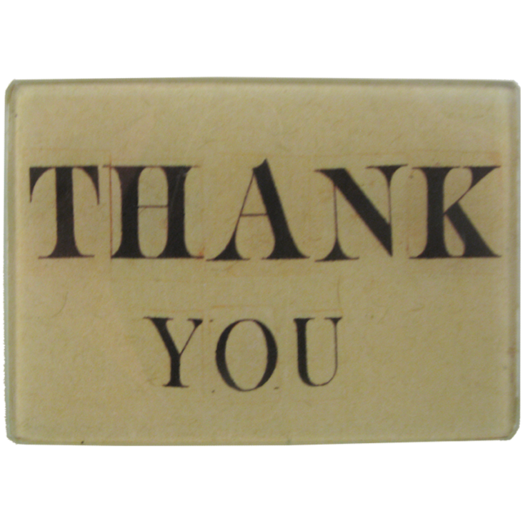 "Thank You 3.5 x 5"" Rectangular Tray"