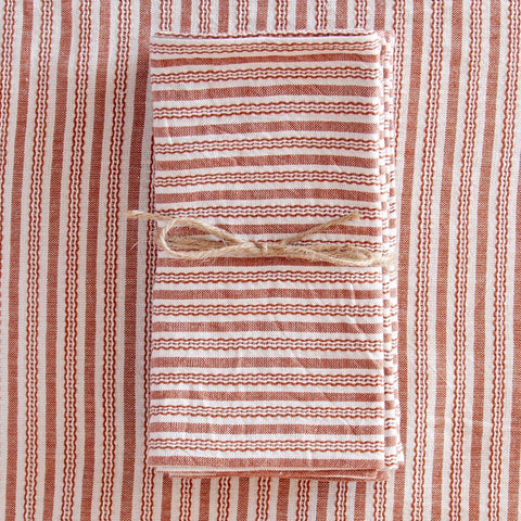 Set of 4 Canyon Stripe Woven Napkin