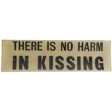 "There Is No Harm In Kissing 3.5 x 12"" Rectangular Tray"