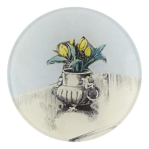 "Vase On Table, 4"" Round Plate"