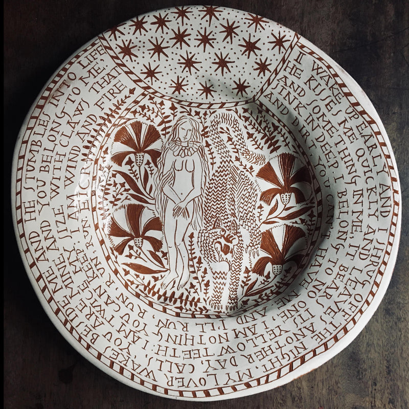 """Wild Woman"", Large Plate"