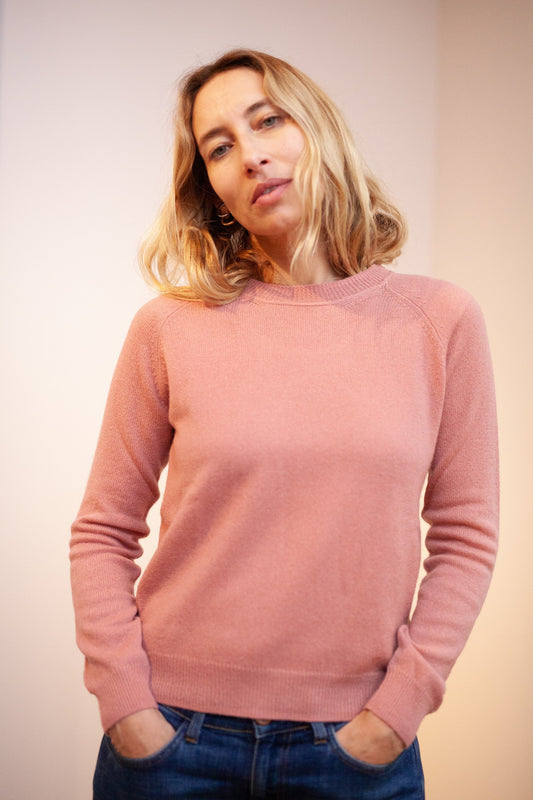 Mila Summer Sweater, Cashmere (Blush)