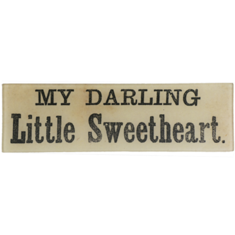 "My Darling Little Sweetheart 3.5 x 12"" Rectangular Tray"