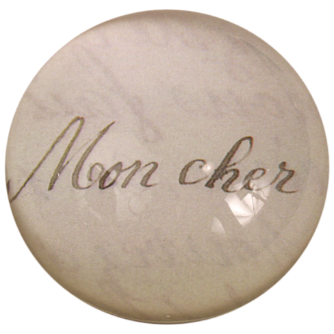 Mon Cher, Dome Paperweight