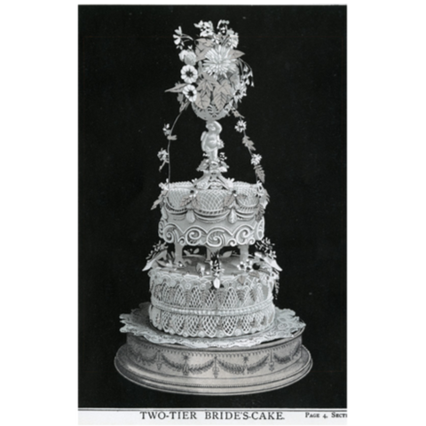Two Tiered Bride's Cake, Postcard