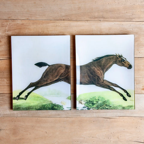 "Jumping Horse (p 13+14) Book Pages - 11 x 14"" Rectangular Trays"