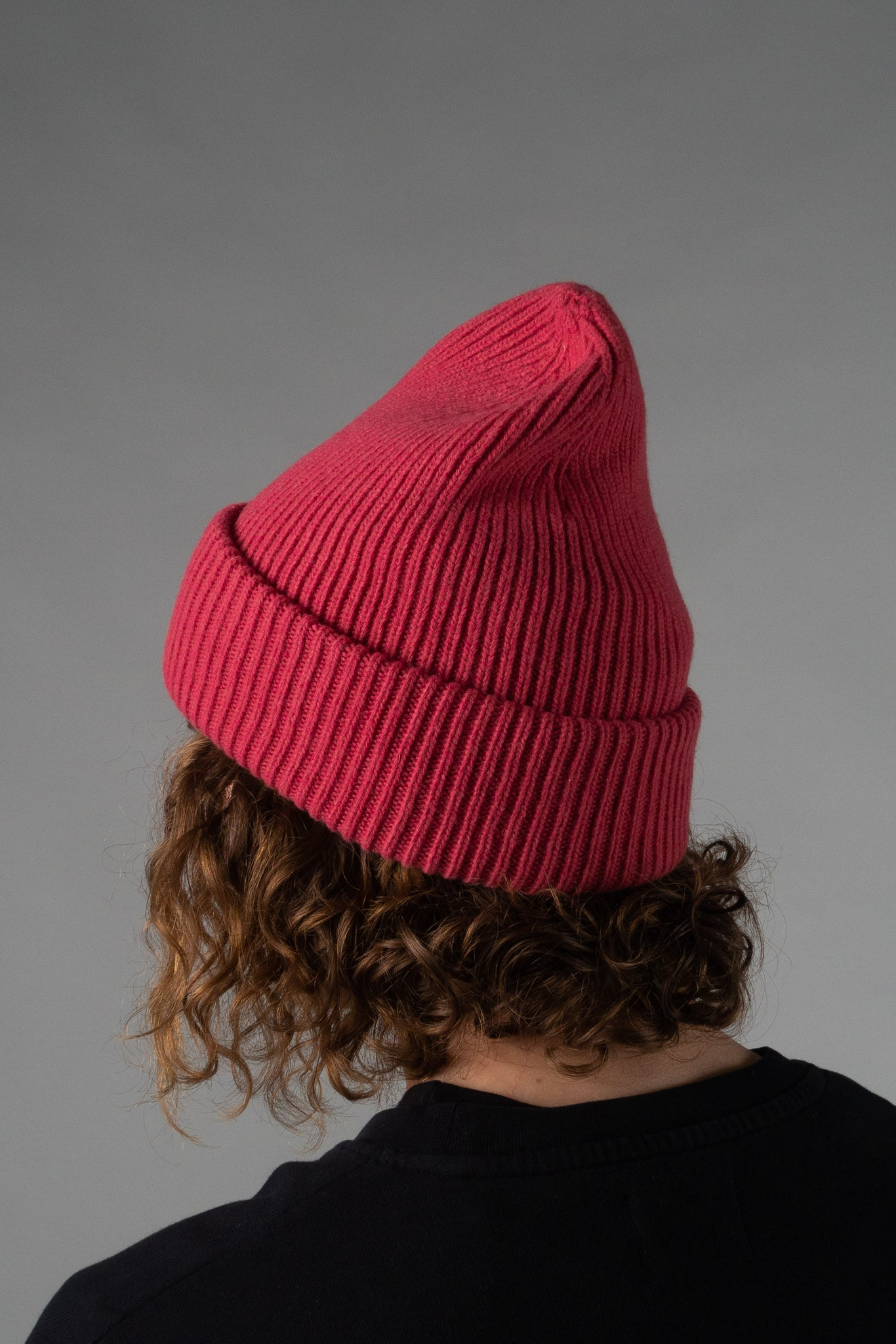 Colorful Standard merino wool hat - rasberry pink
