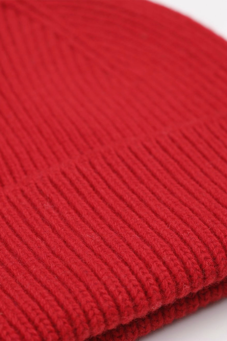 Colorful Standard merino wool beanie - scarlet red