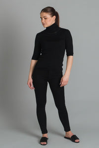 Filippa K Merino elbow sleeve top - black
