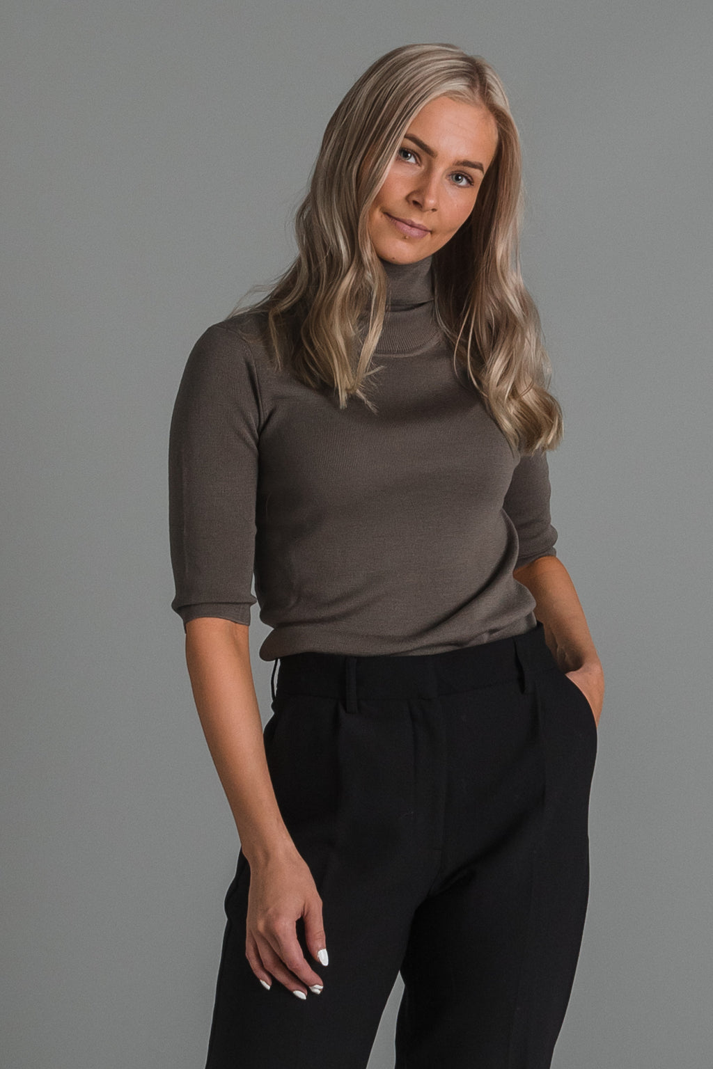 Filippa K Merino elbow sleeve top