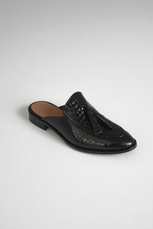 "Flattered Dia black croco slip-on | INCH"" verkkokauppa"