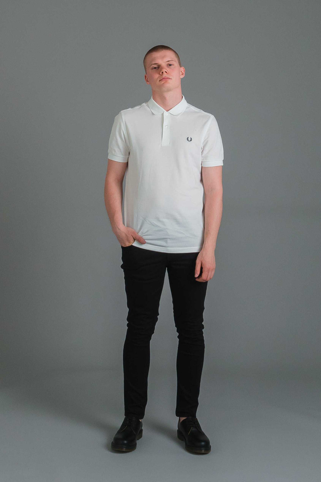 "Fred Perry Plain miesten pikeepaita - valkoinen I INCH"" Tampere"
