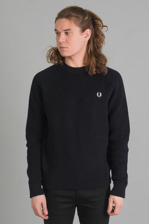 "Fred Perry Ribbed Crew Neck miesten neule I INCH"" Tampere"