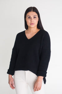 Gauhar Helsinki Organic Cotton knit - Black