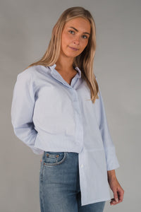 Gauhar tunic shirt - light blue check