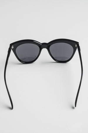 Le Specs Halfmoon Magic black - naisten aurinkolasit